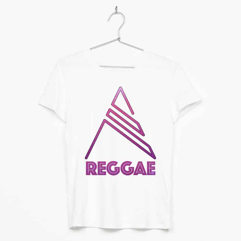 Purple reggae text & simbol