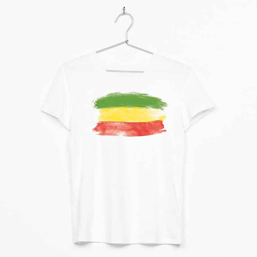 sunsplas reggae flag camiseta