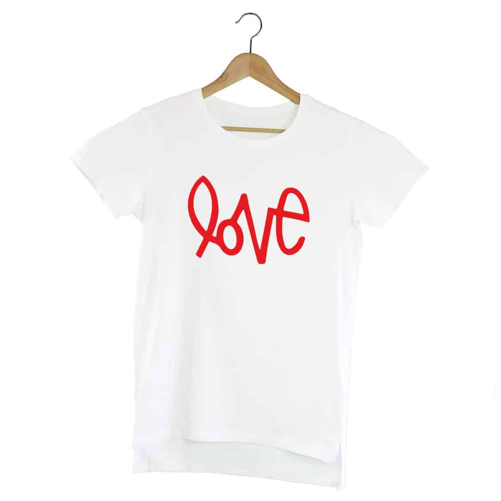 Camiseta Extralong Love