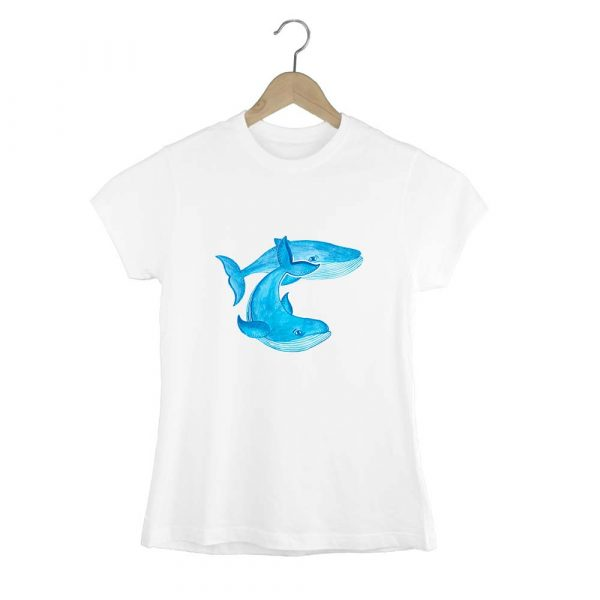 Camiseta de mujer ballenas azules