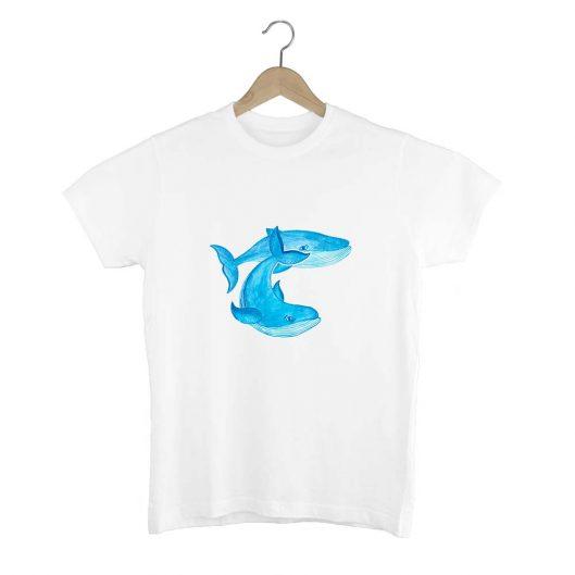 Camiseta Unisex Ballenas Azules