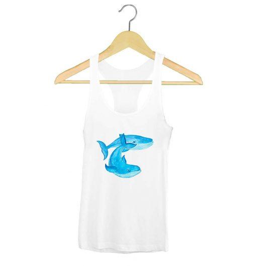 Camiseta Tirantes ballenas Azules