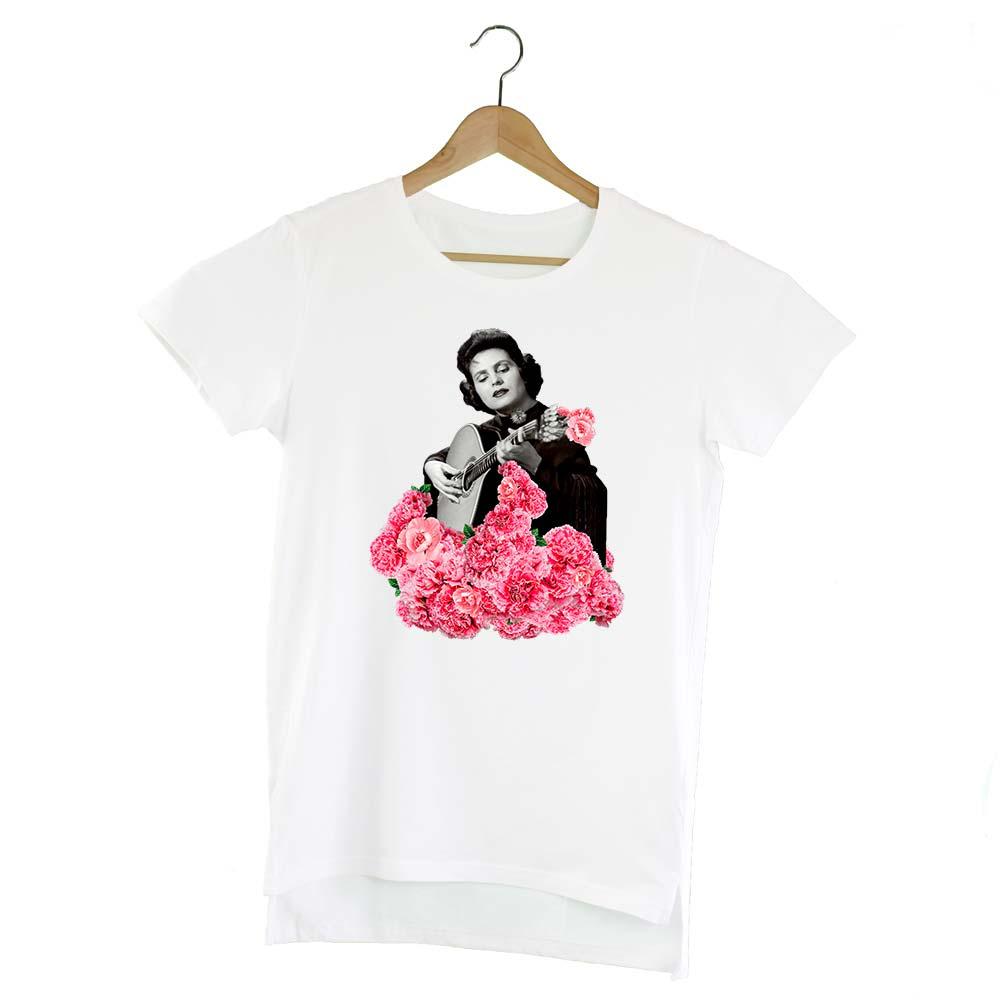 Camiseta extralong Amália Rodrigues